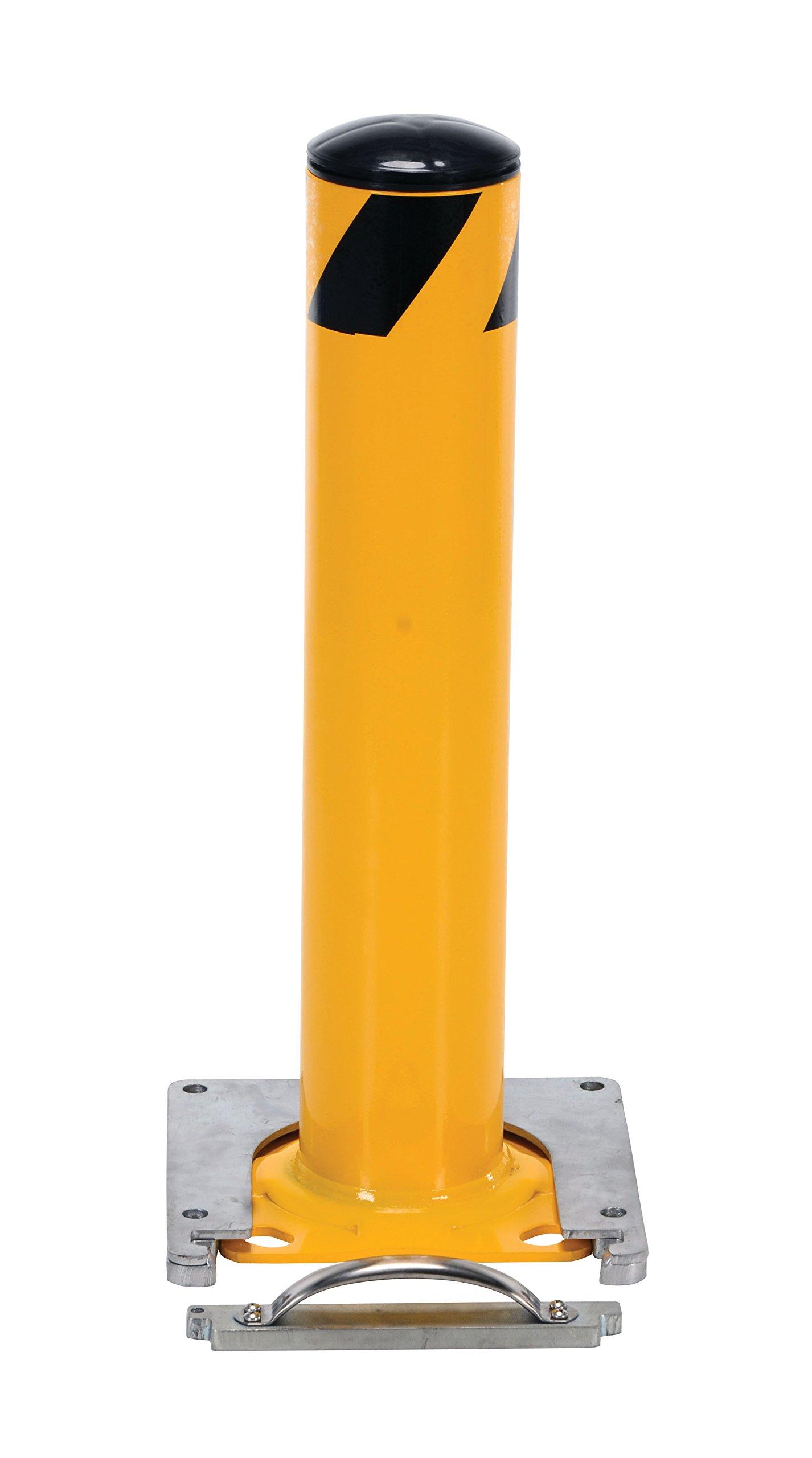 Vestil BOL-RF-24-4.5 Surface Mounted Removable Steel Pipe Safety Bollard, 4-1/2'' OD, 24'' Height by Vestil (Image #4)