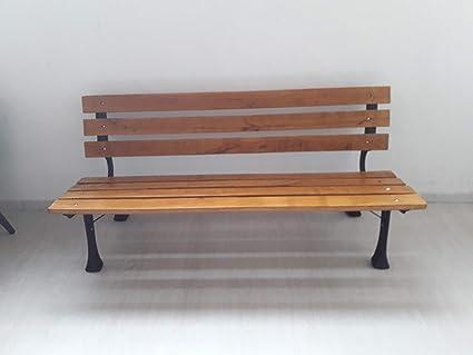 Panchine Da Giardino Legno E Ghisa : Altigasi panchina in ghisa con listelli in legno massiccio