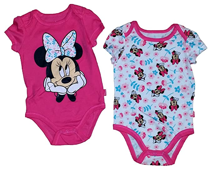 ad33120a9 Image Unavailable. Image not available for. Color: Disney Minnie Mouse Baby  Girls Romper / Creeper Set - 2 ...