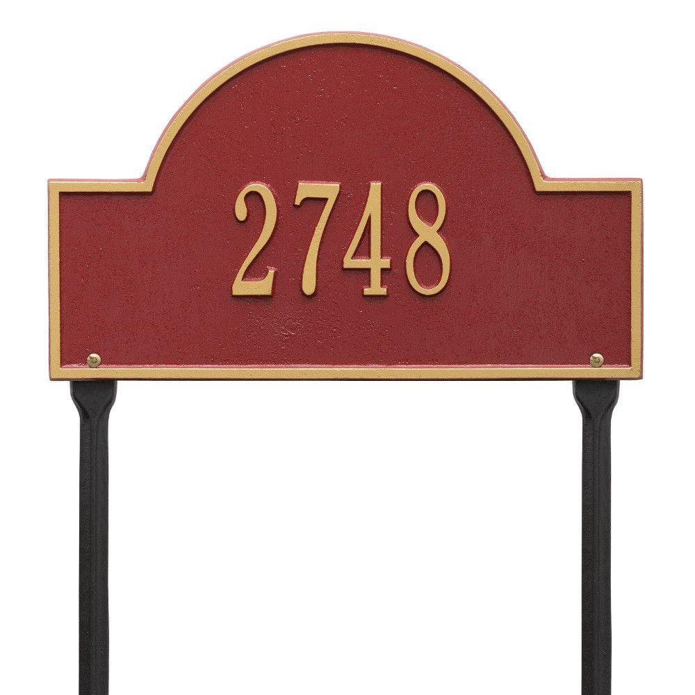 Arch Marker Address Sign Finish: Bronze and Gold