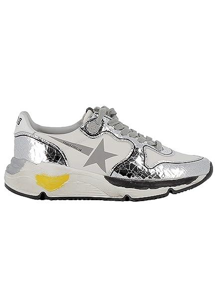 Golden Goose Mujer G34ws963a6 Plata Cuero Zapatillas: Amazon.es: Zapatos y complementos