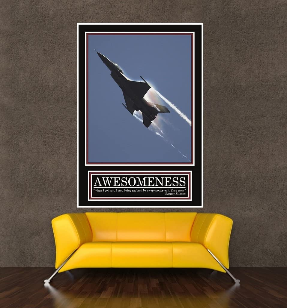 """Awesomeness motivational poster 24x36/"""" Suit and tie How I met your mother Barney"""