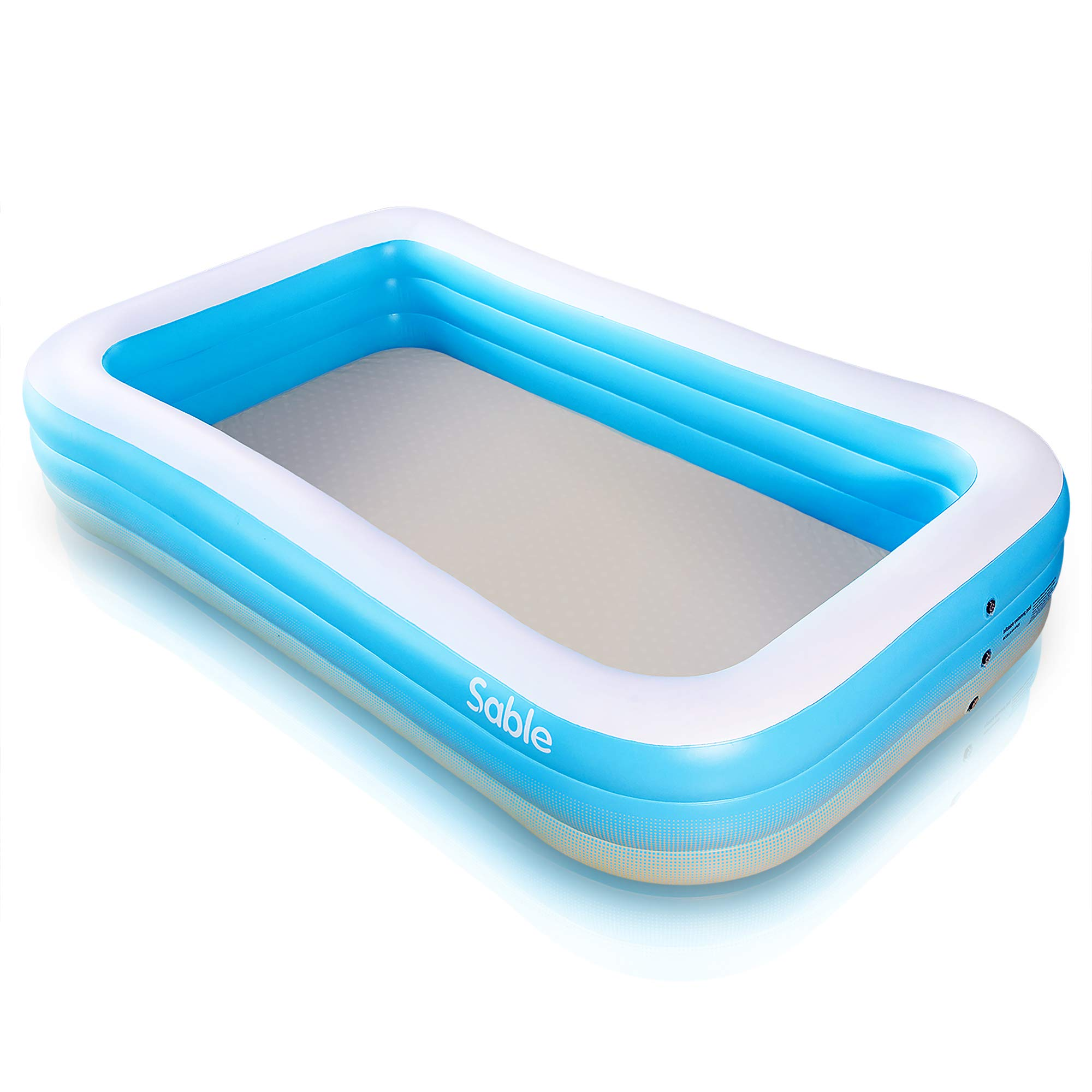 Inflatable Pool, Sable Swimming Pool for Baby, Kiddie, Kids, Adult, Infant, Toddler, 118'' X 72'' X 20'', for Ages 3+ by Sable
