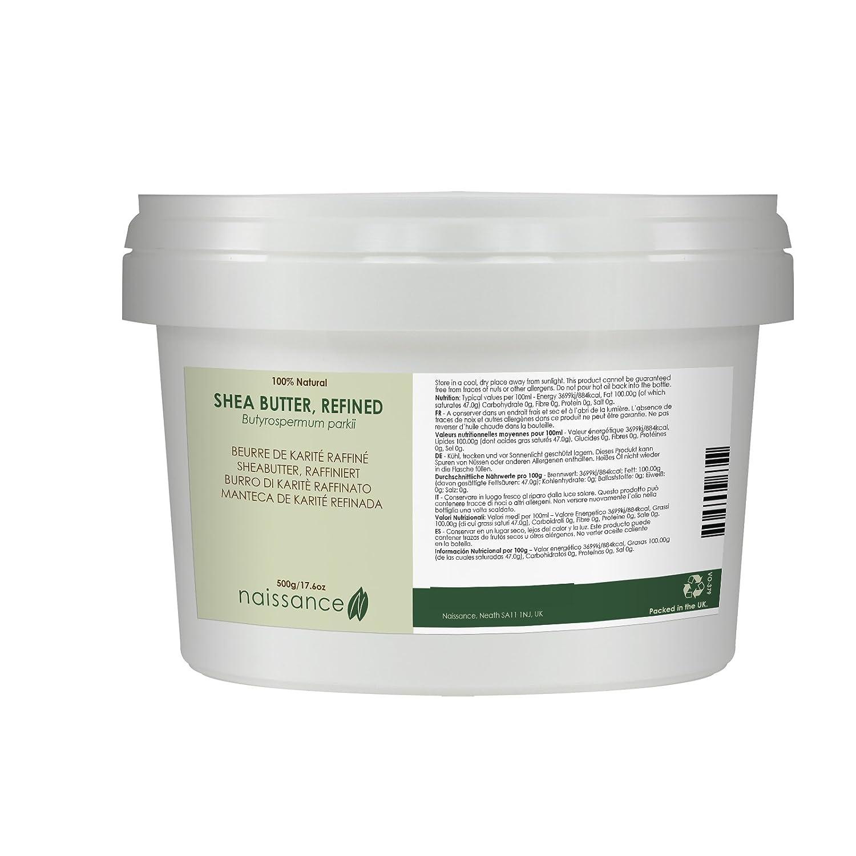 Naissance Burro di Karitè Raffinato Certificato biologico 500g – Puro e Naturale, Certificato biologico, vegan