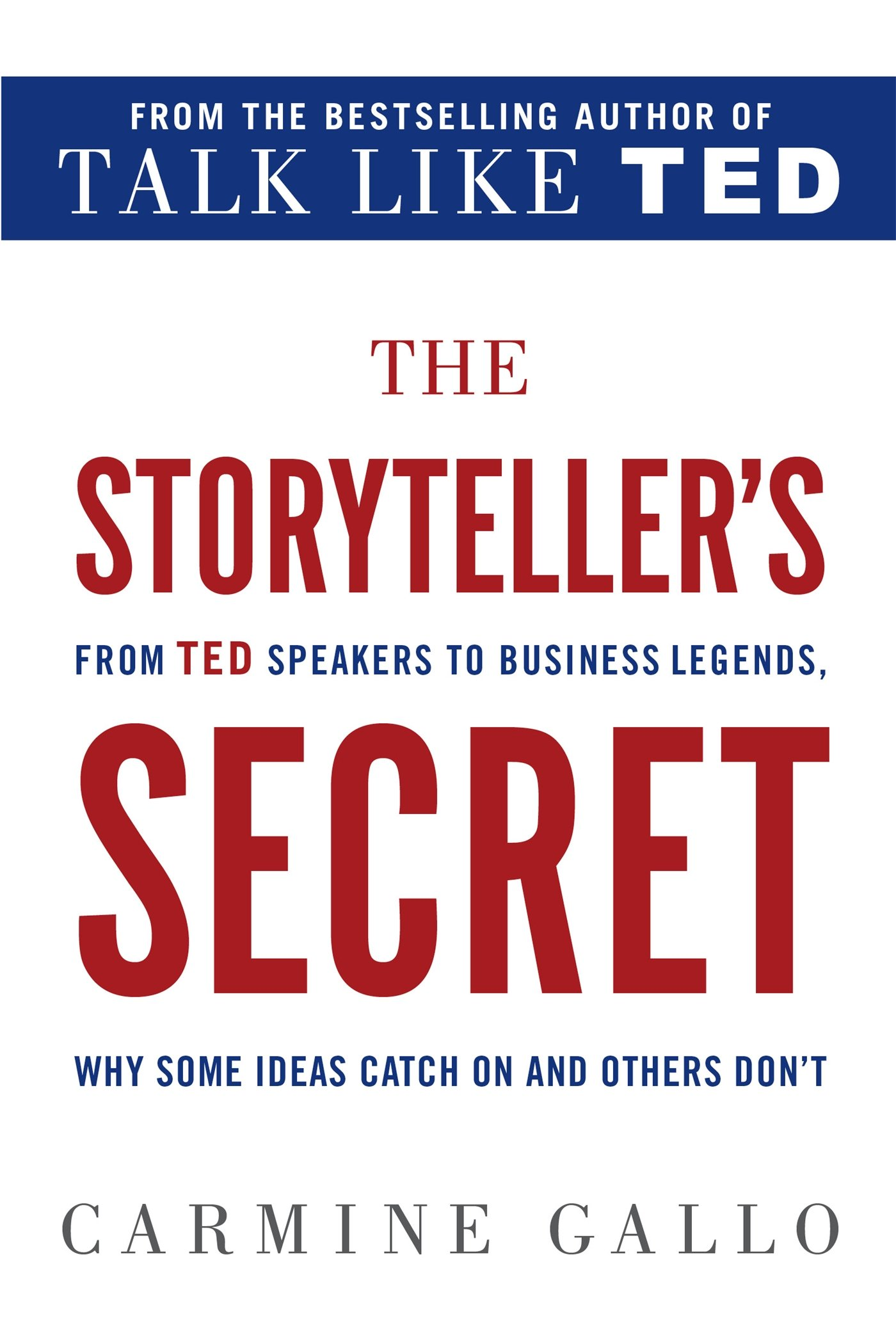 Image result for The Storyteller's Secret: From TED Speakers to Business Legends, Why Some Ideas Catch On and Others Don't