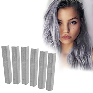 Platinum Silver Temporary Vibrant Hair Color | With Shades of Frosty Silver  Set of 6 Vibrant Hair Color | It Is...