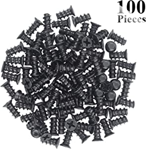 Favordrory M5x10 Black Zinc Computer Case Fan Screws, Computer Cooling Fan Mount Screws, Mounting PC Case Fan Screws, 100 PCS