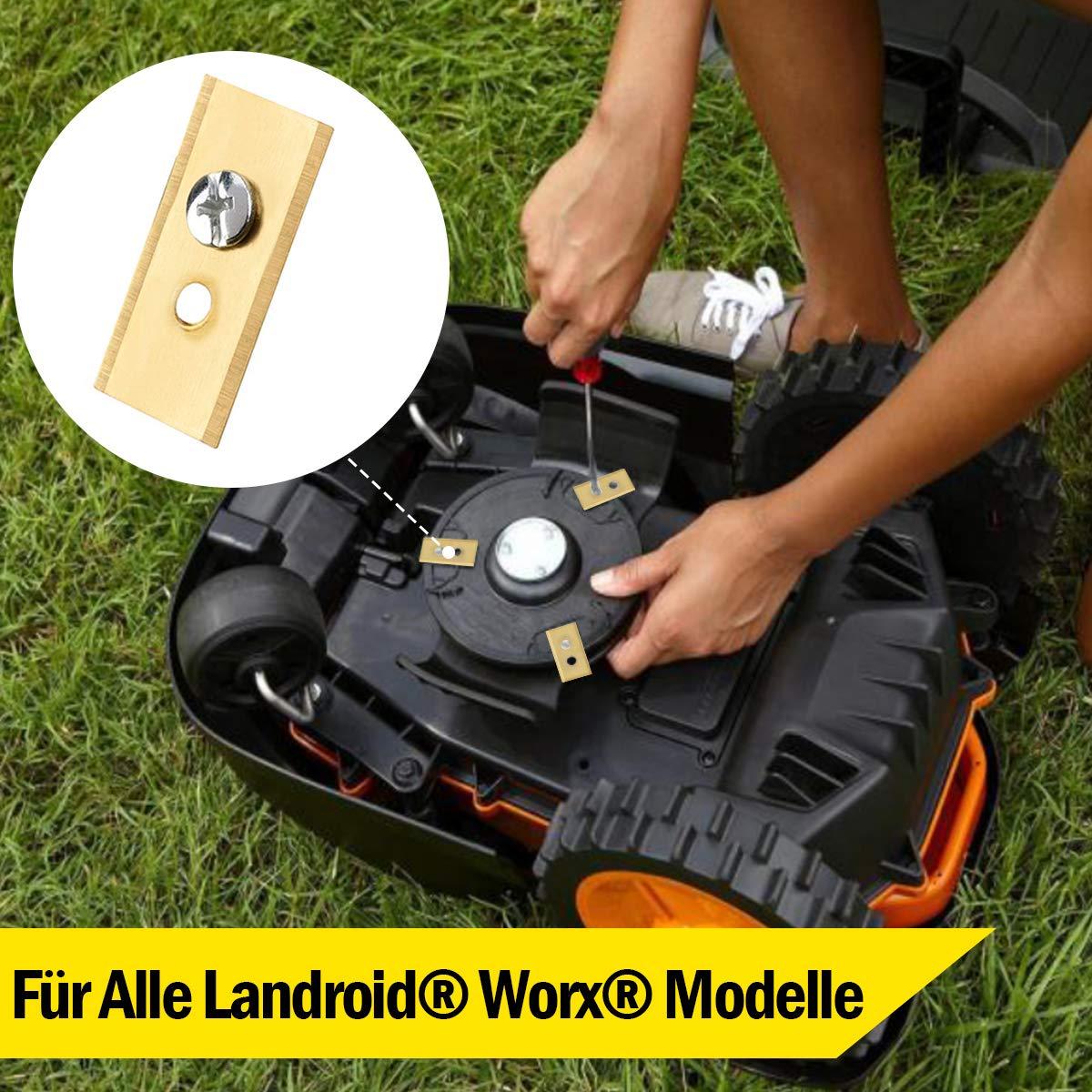 30 cuchillas de titanio para Worx Landroid, cuchilla de repuesto ...