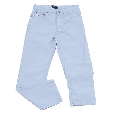 1f21bb0ce08e85 Ralph Lauren 9111T Jeans Bimbo blu Pantalone Jeans Cotton Light Blue Kid  Boy  6 Years