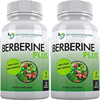 Berberine Plus with Royal Jelly - 1200mg Per Serving - 120 Veggie Capsules, Supports Glucose Metabolism, Healthy Immune System, Weight Management, Improves Cardiovascular Heart (Pack of 2)