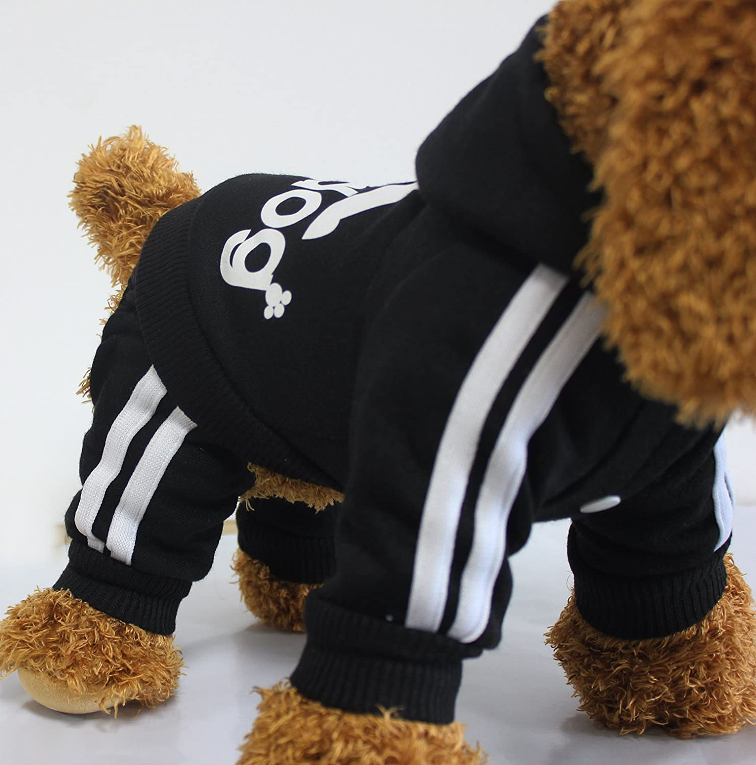 LifeWheel Pet Dog Jumpsuit Puppy Clothes Hoodies Jacket Pullover Cat Outwear Costume Red Small