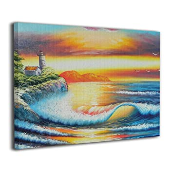 Amazon Com Yz Mamu Beach Wall Art Paintings Prints On Canvas