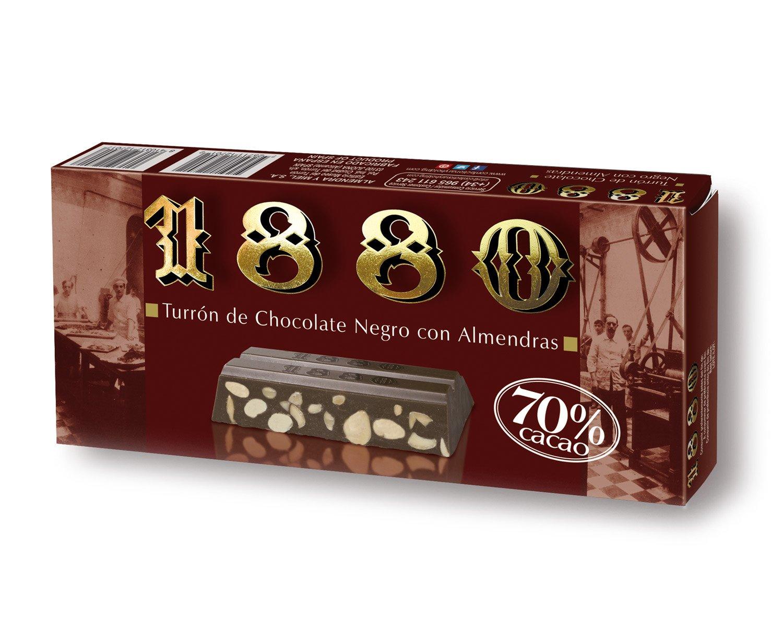 Turrón De Chocolate Negro Al 70% 1880 250G: Amazon.es: Alimentación y bebidas