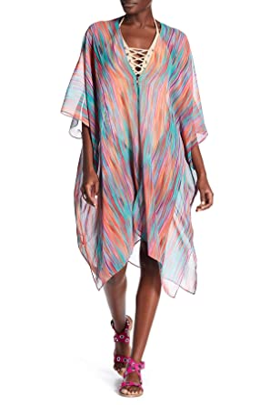 001d573002 La Moda Clothing Sheer Luxury Kaftan | Kimono Sleeve Cover Up | Beach Wear,  Resort Wear & Bikini Cover Up | by GOGA Swimwear at Amazon Women's Clothing  ...