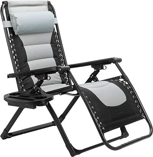 VINGLI Oversized XL Padded Zero Gravity Chair