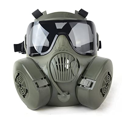 Outgeek M50 Airsoft Mask Full Face Skull CS Mask