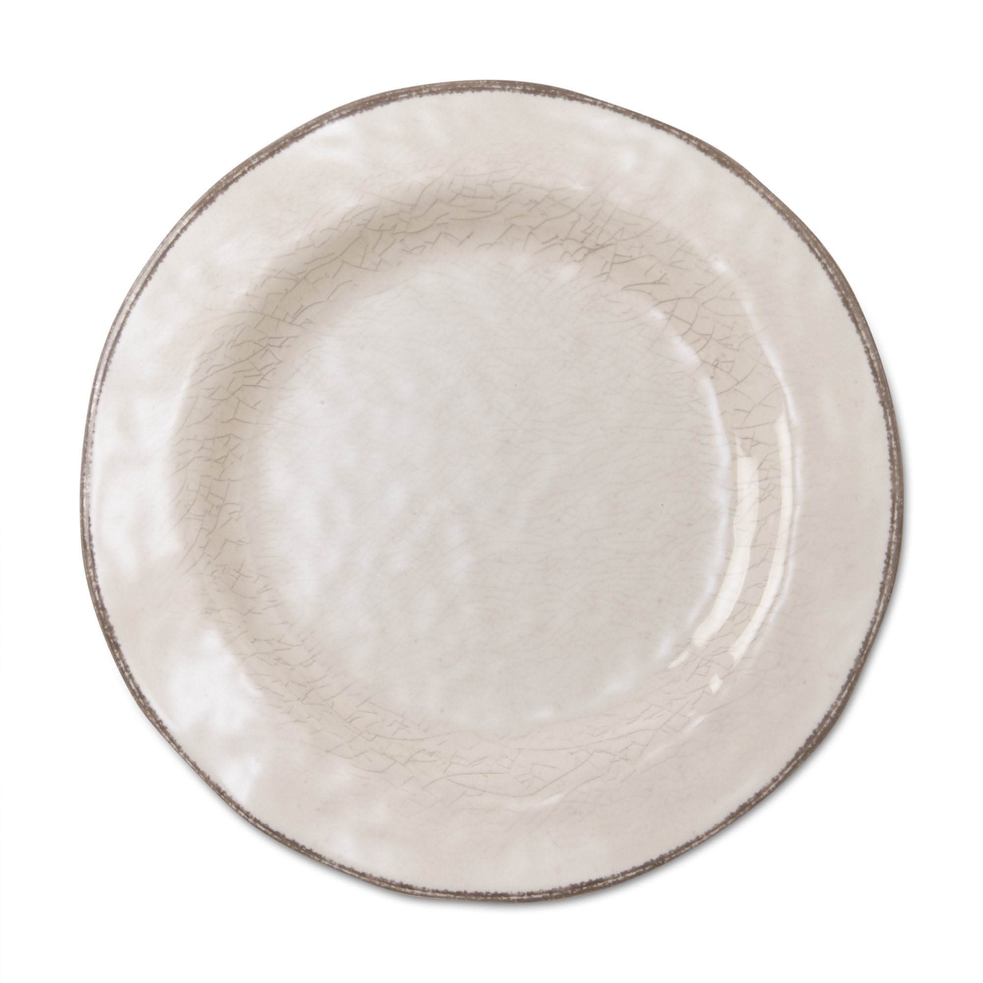 tag - Veranda Melamine Salad Plate, Durable, BPA-Free and Great for Outdoor or Casual Meals, Ivory (Set Of 4)