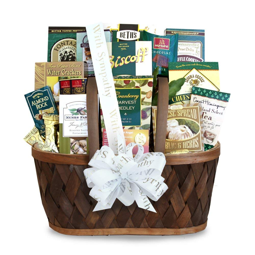 Heartfelt Wishes & Thoughts Sympathy - Condolence - Bereavement Gift Basket