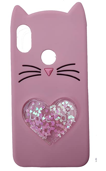wholesale dealer e9853 fed22 FancyArt Cute Love Cat special's Girls Soft Silicon Back Case Cover for  redmi Note 6 pro (Rose Gold)