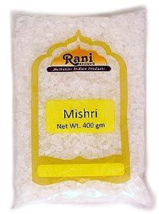 Rani Misri (Indian Sugar Crystals) 14oz (400gm) ~ All Natural | Gluten Free Ingredients | No Colors | Vegan | Indian Origin