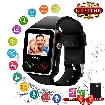 Smart Watch Bluetooth Reloj Inteligente Táctil Smartwatch Teléfonos Reloj: Amazon.es: Electrónica