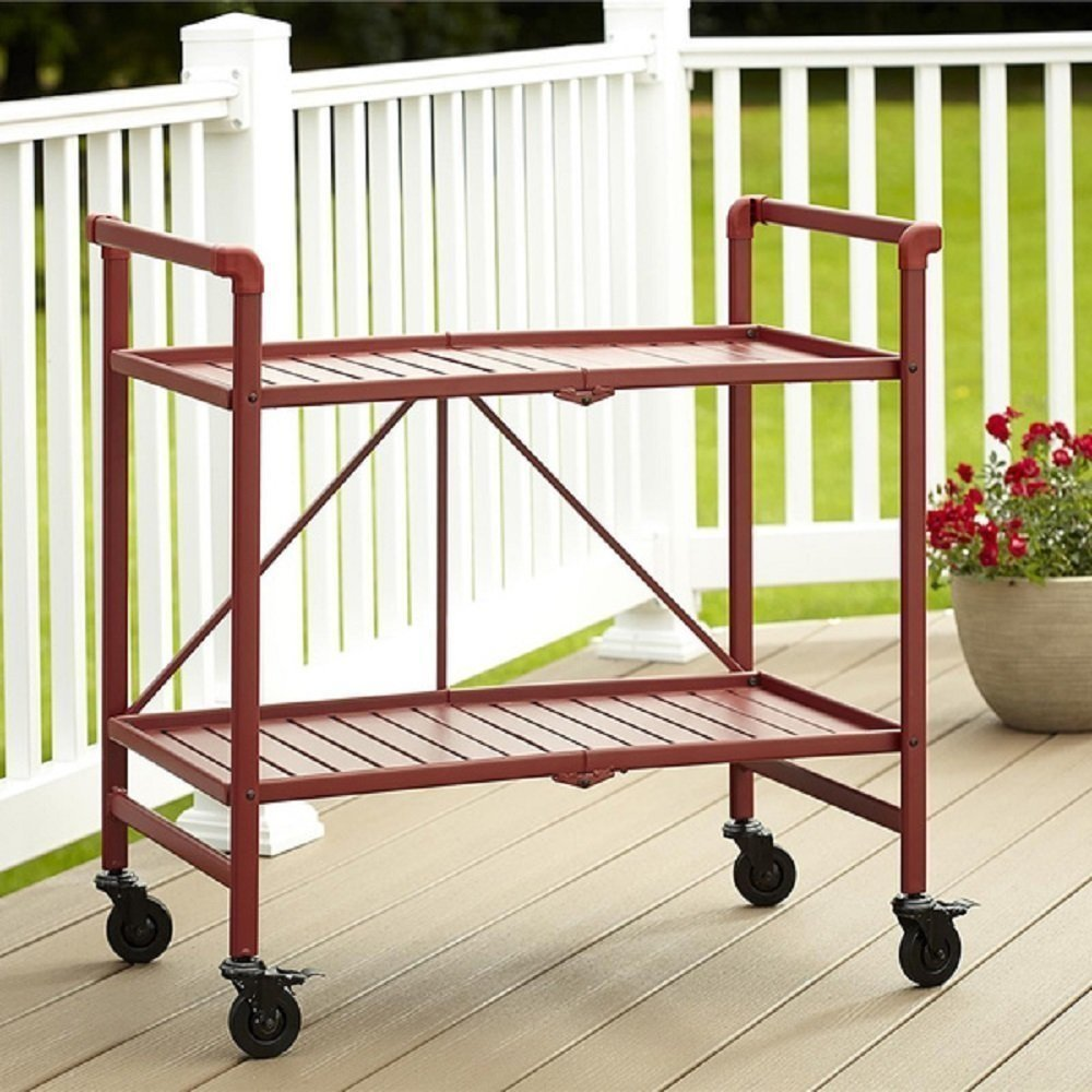 Amazon.com - Rolling Serving Cart Wheels Outdoor Folding Portable ...