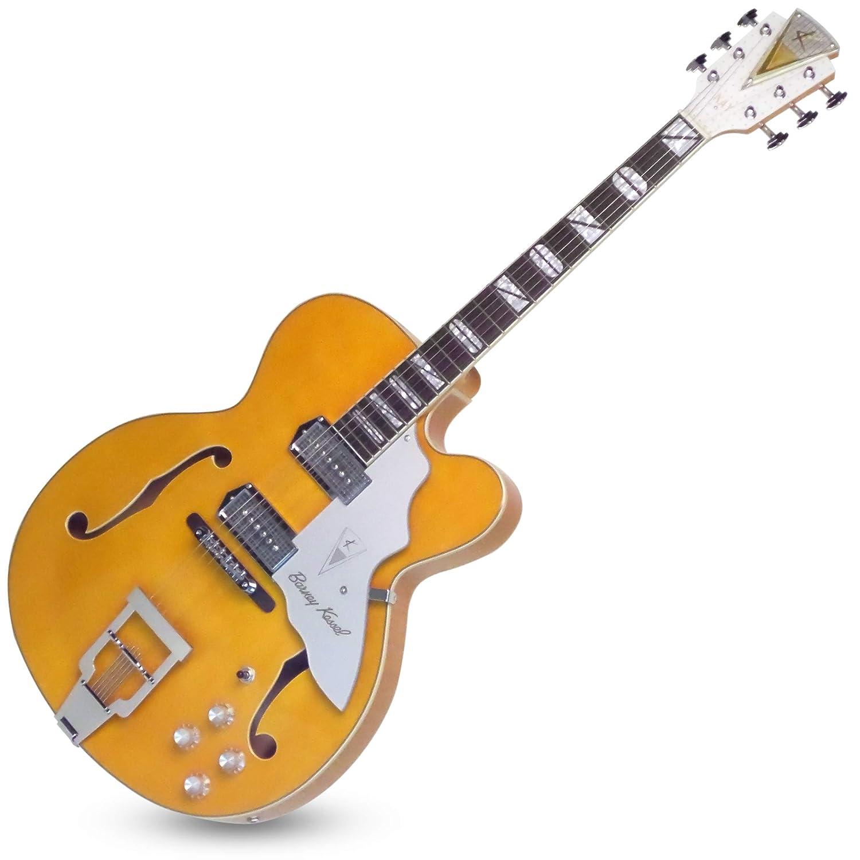 Kay K8700VB - Guitarra eléctrica de cuerpo semihueco, 6 cuerdas, color rubio natural: Amazon.es: Instrumentos musicales