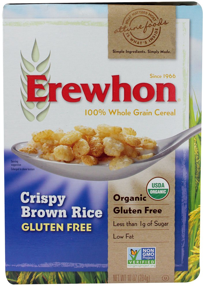 Erewhon Crispy Brown Rice Cereal, Gluten Free, Organic, 10 oz (Pack of 3)