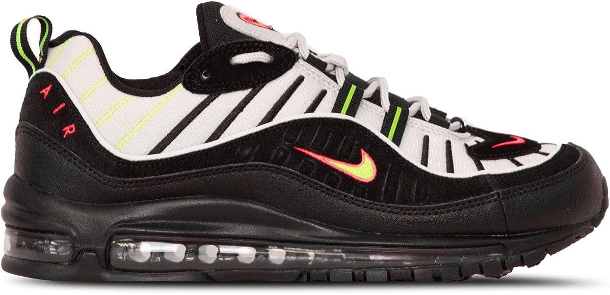 Amazon Com Nike Men S Air Max 98 Platinum Tint Electric Green