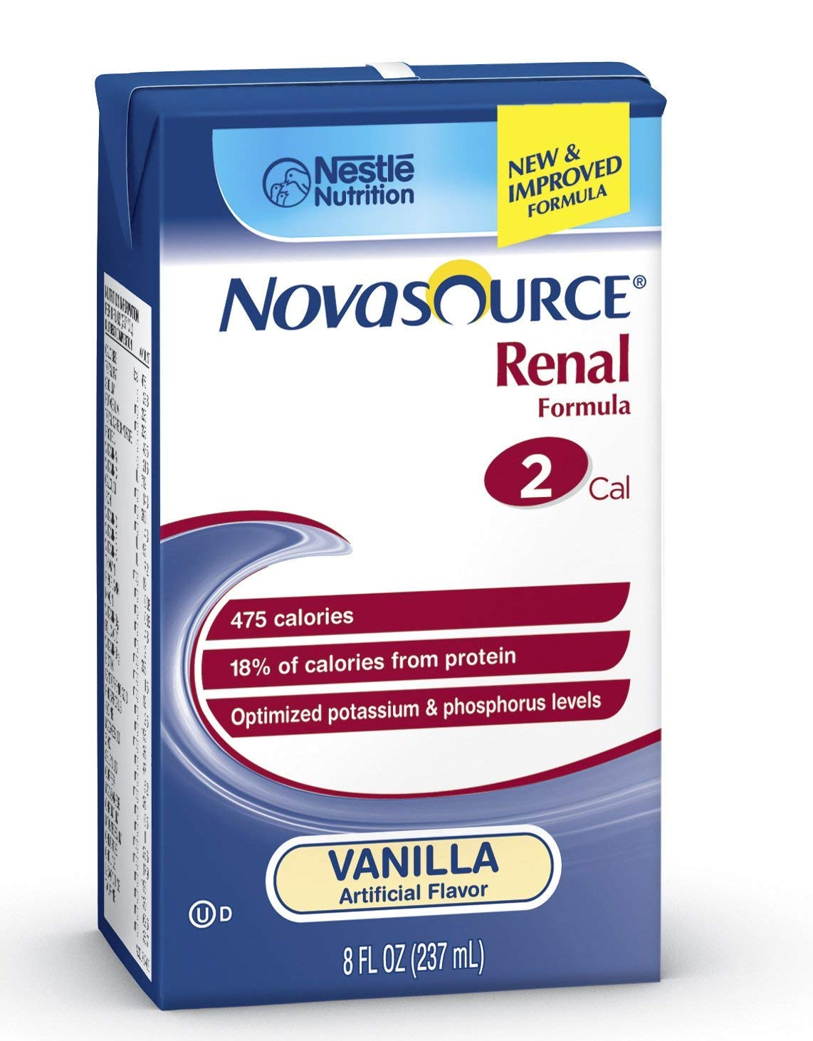 Nestle Novasource Renal Oral Supplement Adult Vanilla 8 oz by Nestle