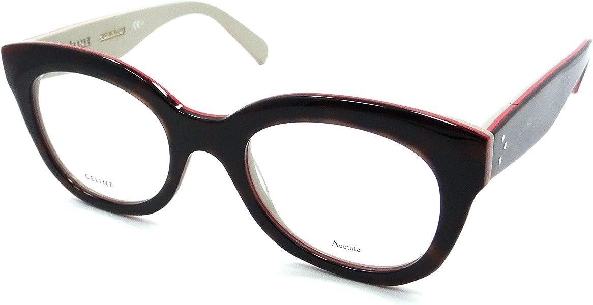 648683c450b0 Celine Rx Eyeglasses Frames CL 41362 A26 49-21-145 Havana Red Beige Italy