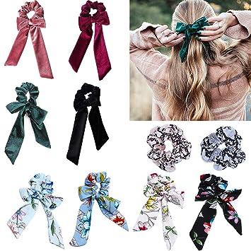 Women/'s Hair Scrunchies Bow Hair Ties Rope Ribbon Girls Ponytail Holder Ribbon
