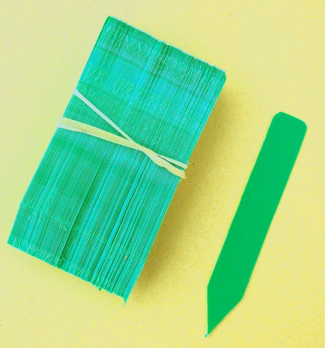Green Plastic Plant Labels Nursery Tags (4'' x 5/8'') (2000)