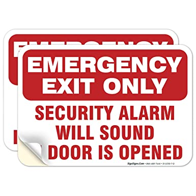 EMERGENCY EXIT SIGN A4 SELF ADHESIVE LAMINATED