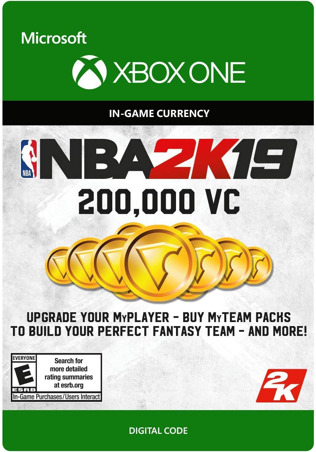 Amazon Com Nba 2k19 200000 Vc Pack Xbox One Digital Code
