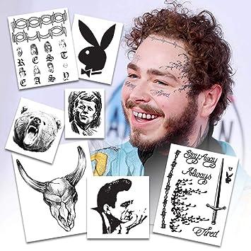 317c74ae5 Amazon.com : Post Malone Temporary Tattoos | LARGE Set | Over 20 Tattoos :  Beauty