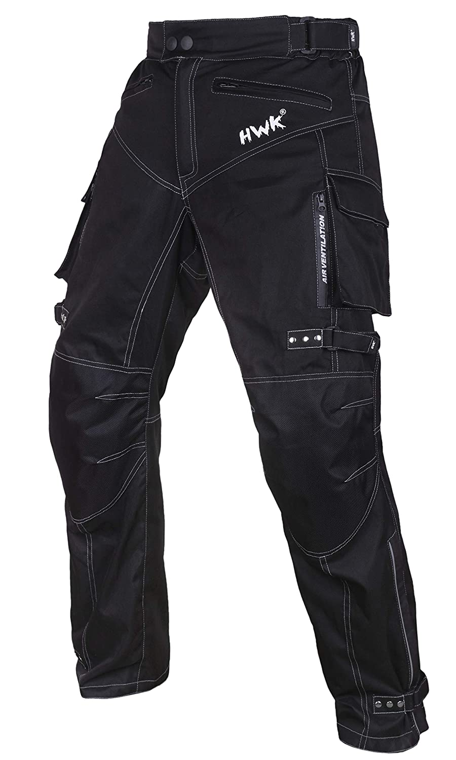 Motorcycle Pants For Men Dualsport Motocross Motorbike Pant Riding Overpants Enduro Adventure Touring Waterproof CE Armored All-Weather (Waist34''-36'' Inseam34'') HWK S1