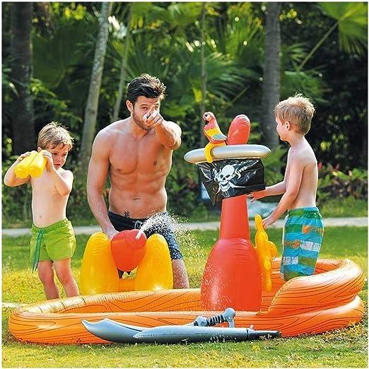 TrAdE shop Traesio® piscina hinchable zona de juegos Piratas con ...