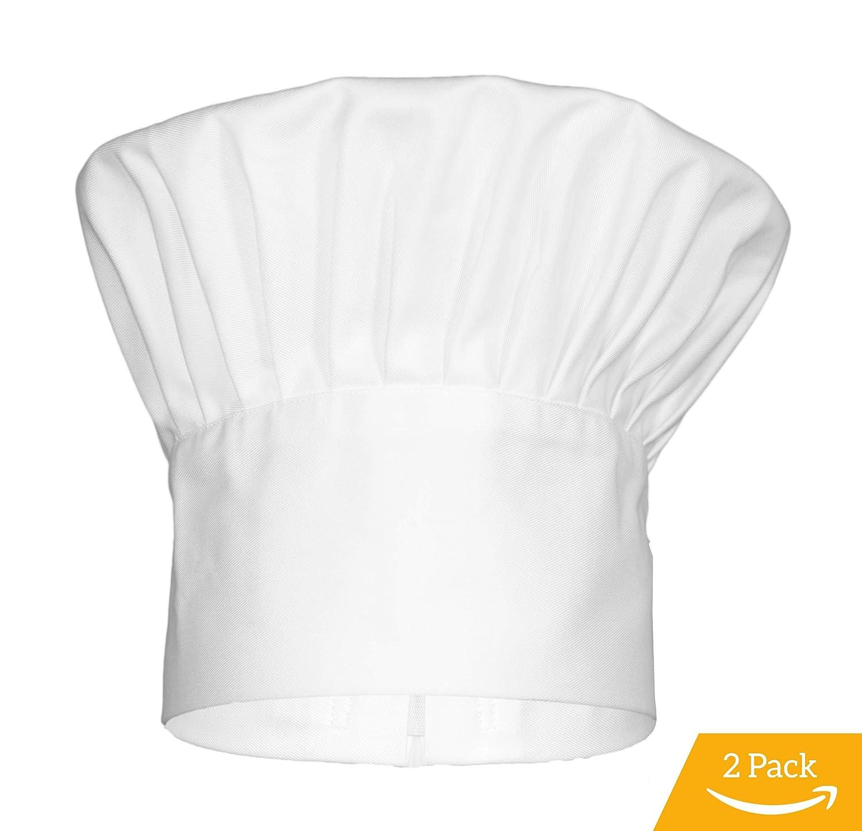 GenieChef 2 Pack Classic Chef Hat Men Women
