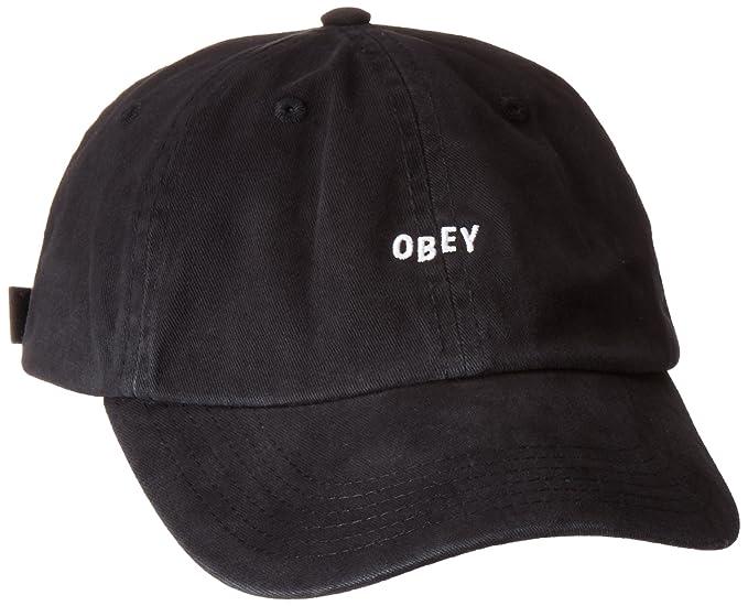 Amazon.com  Obey Men s Jumble Bar Ii 6 Panel Hat 979d6efda333