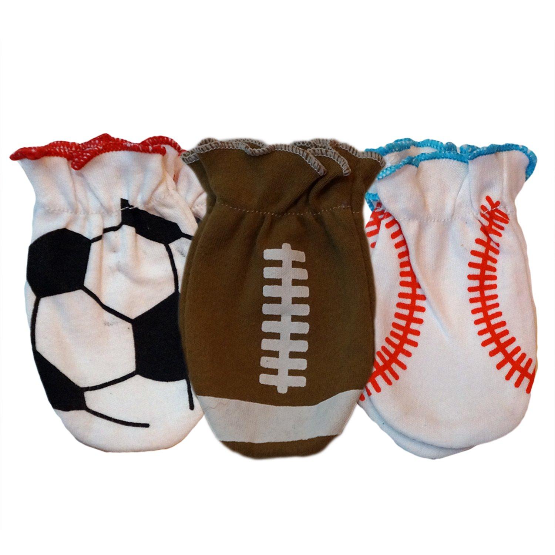 Sozo Sports Boys No Scratch Mitten Accessories, 3 pairs, One Size MITT04
