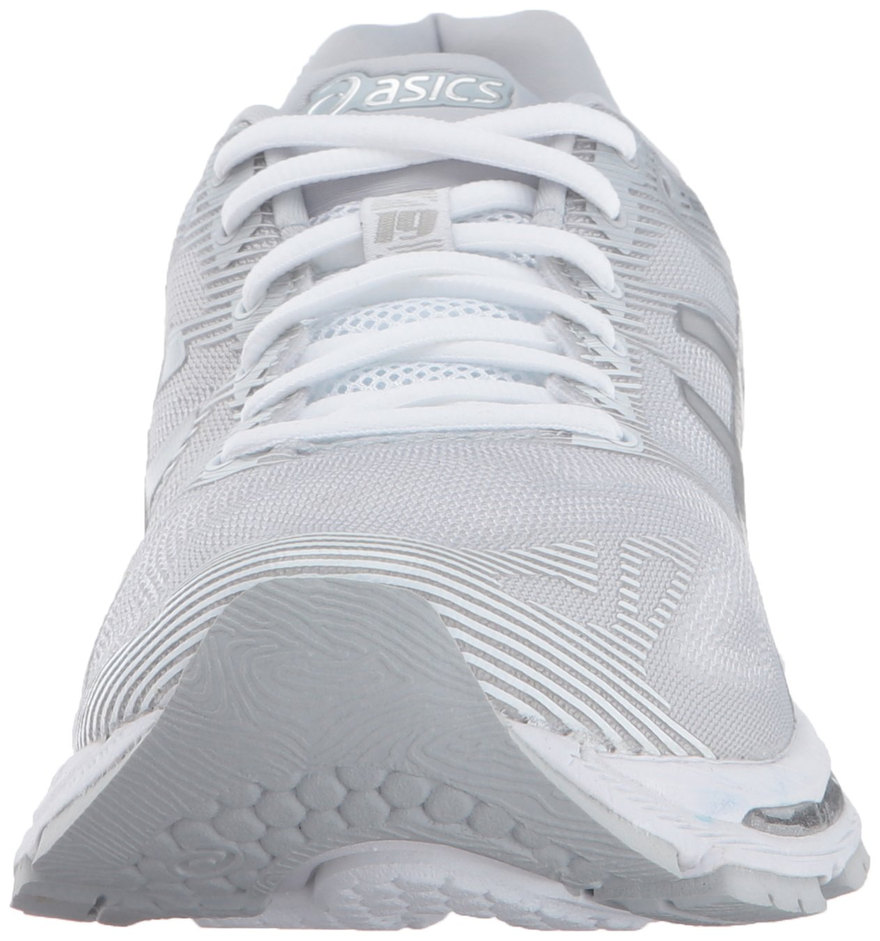 info for 46314 bd11f ASICS Womens Gel-Nimbus 19 Running Shoe, Glacier Grey/Silver ...