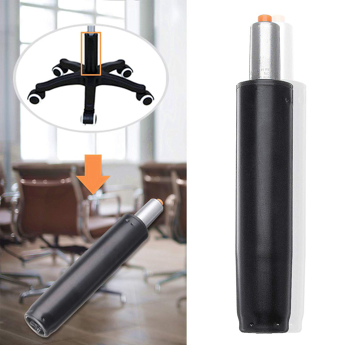 Fevas 11'' Heavy Pneumatic Rod Gas Lift Cylinder Chair Replacement Accessories Pneumatic Parts for Office Bar Computer Chairs