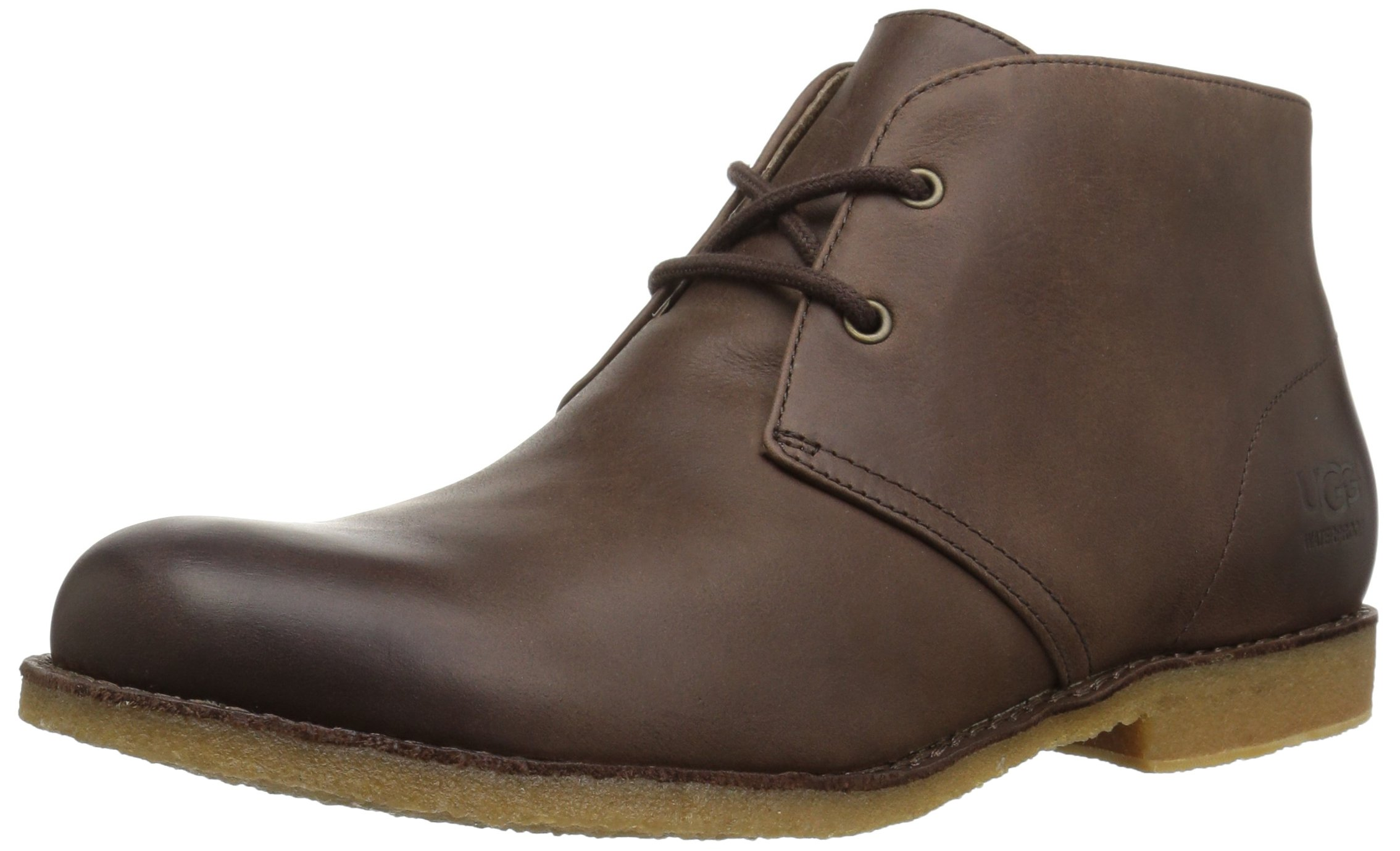 UGG Men's Leighton WP Chukka Boot, Grizzly, 9 M US