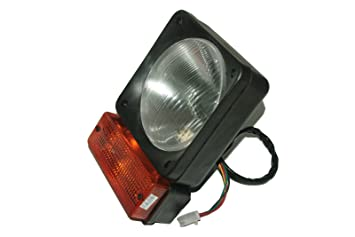 Enfield County JCB Loadall Fastrac Front Headlight Head Lamp + Indicator  Assembly Unit