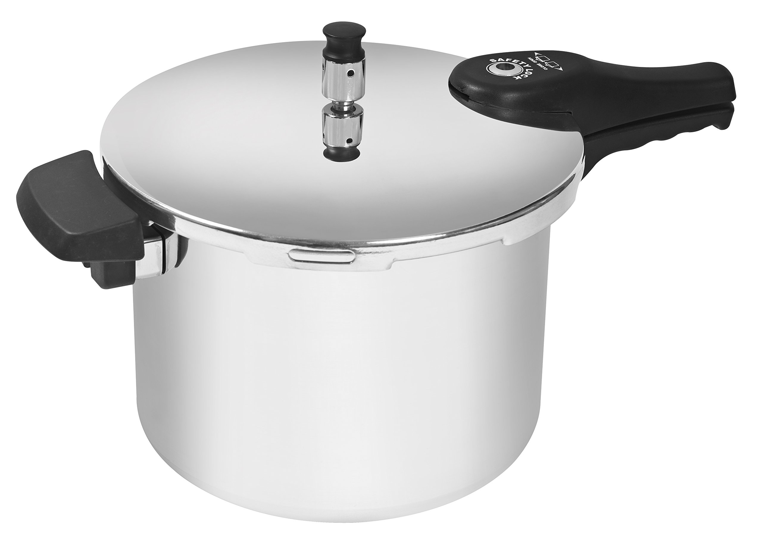 Cook Prep Eat 9 quart Pressure Cooker with Safety Features, Large, Stovetop Pressure Cooker Express, Natural Aluminum, Silver