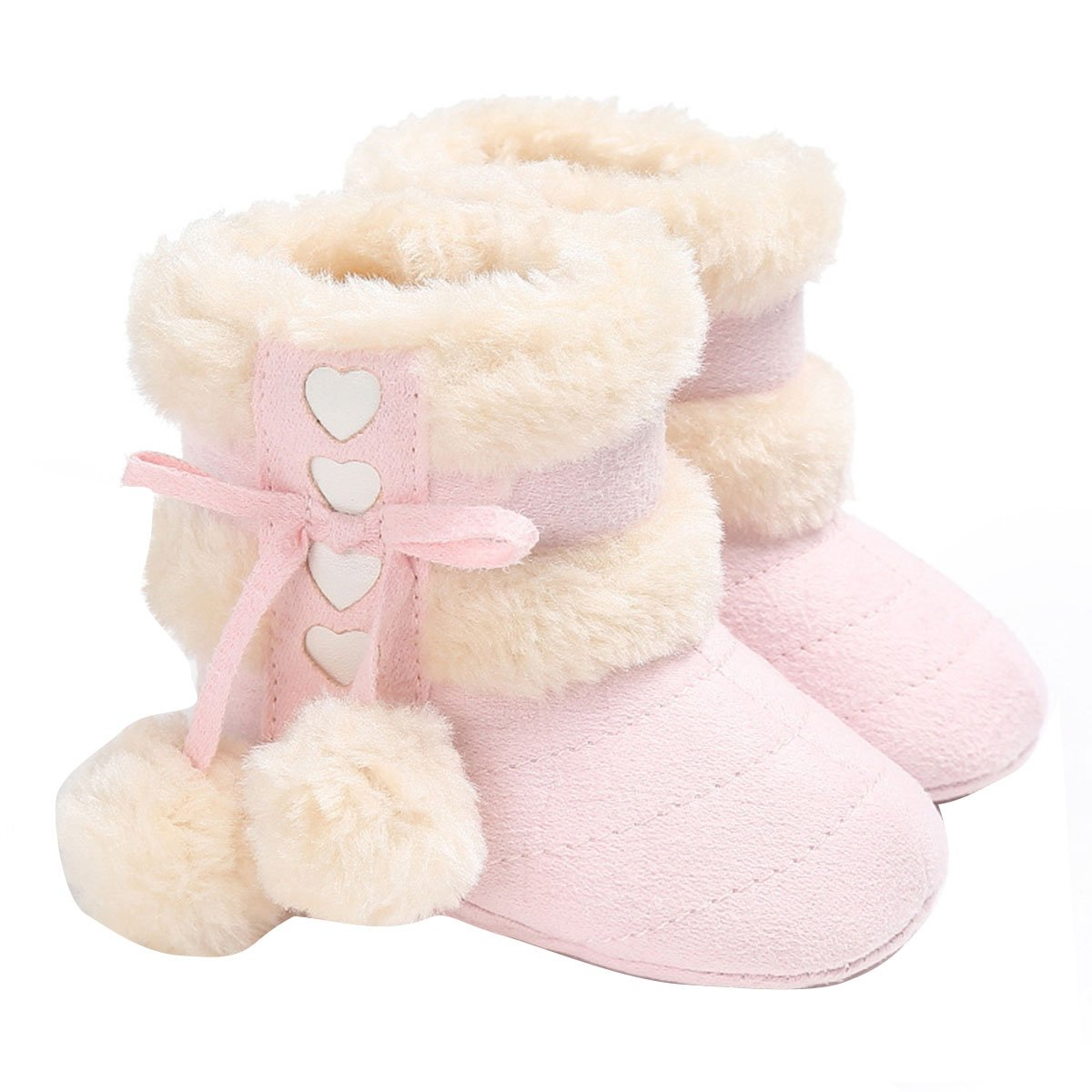Butterme Baby Warm Soft Cotton Boots Anti-Slip Soles Cute Toddler Shoes for 0-18 Months Baby(12cm, Pink) ZUMUii ZUMU00005117