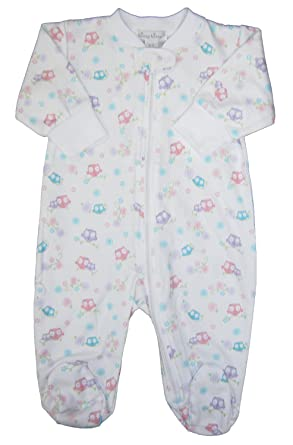 fde3e12c3 Kissy Kissy Baby-Girls Infant What A Hoot Print Footie With  Zipper-multicolored-