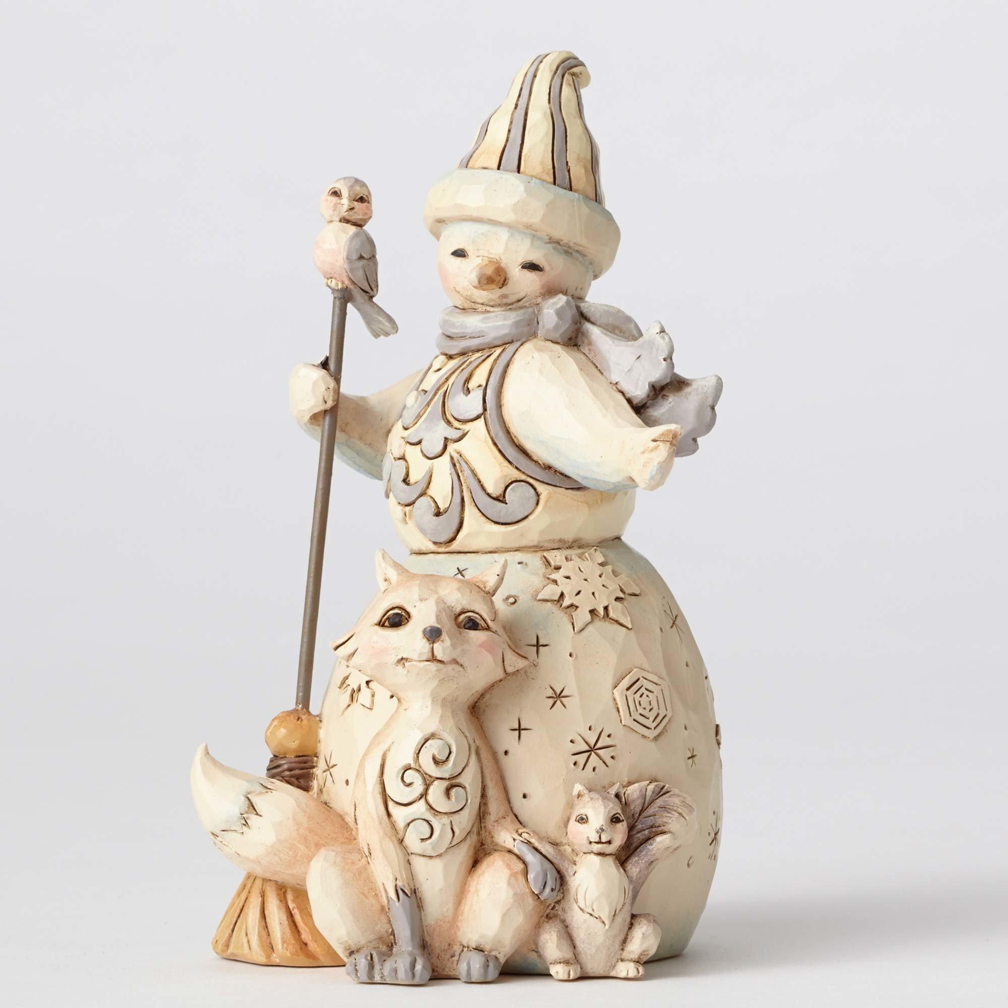 Enesco 4053698 JS HWC Fig Wdlnd Snowman/Anima Figurine