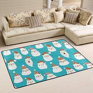 Amazon Com Area Rugs Christmas Santa Claus Head Floor Mat Indoor